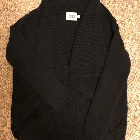 9dc32c6dd5b UGG Black Shawl Collar Cardigan in XS